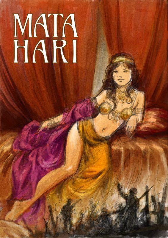 Mata  Hari, recherche de couverture © Laurent Paturaud
