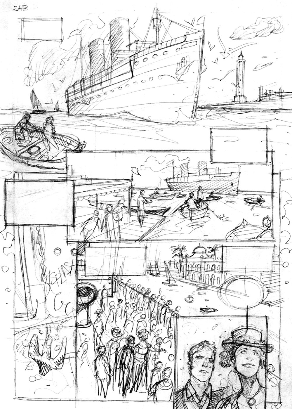 Sherlock Holmes, storyboard du tome 3 © Giuseppe Manunta / Roger Seiter