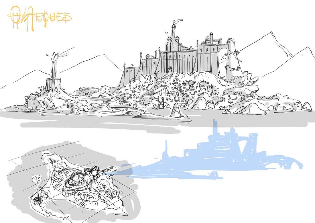Le serment de l'acier, Peuple Onarque, architecture : Torrède © Ferrari / Marce