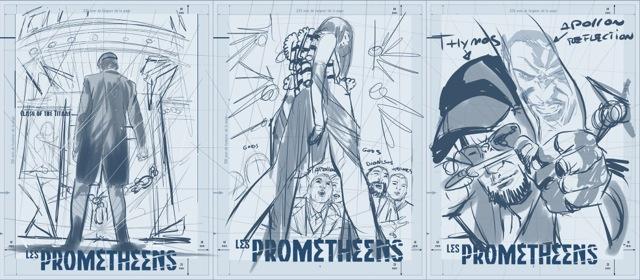 les Prométhéens, recherche de couverture pour le tome 3 © Le Lombard / Sandoval / Herzet / Henscher