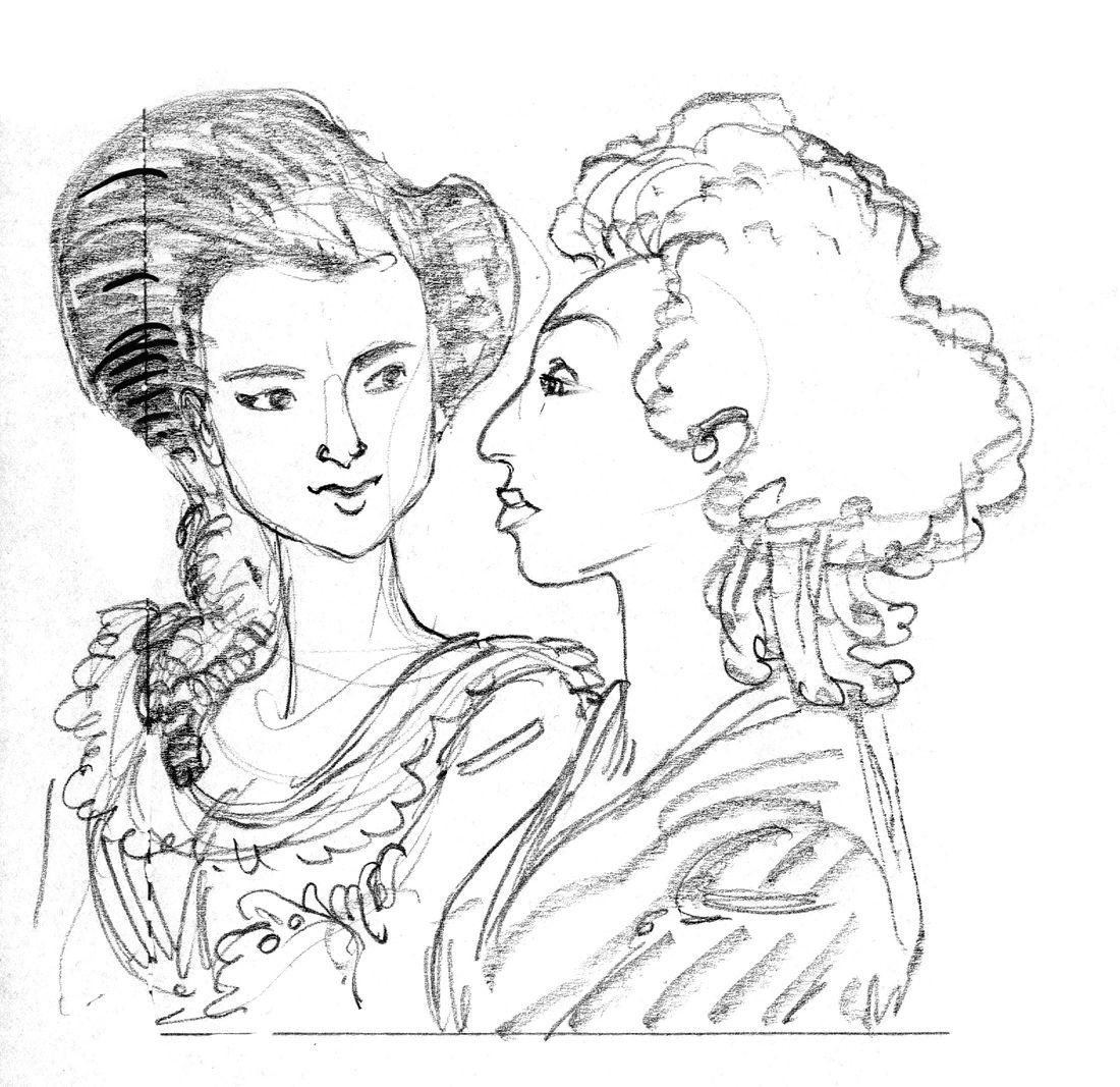 Mémoires de Marie-Antoinette, Antoinette et Yolande © Isa Python