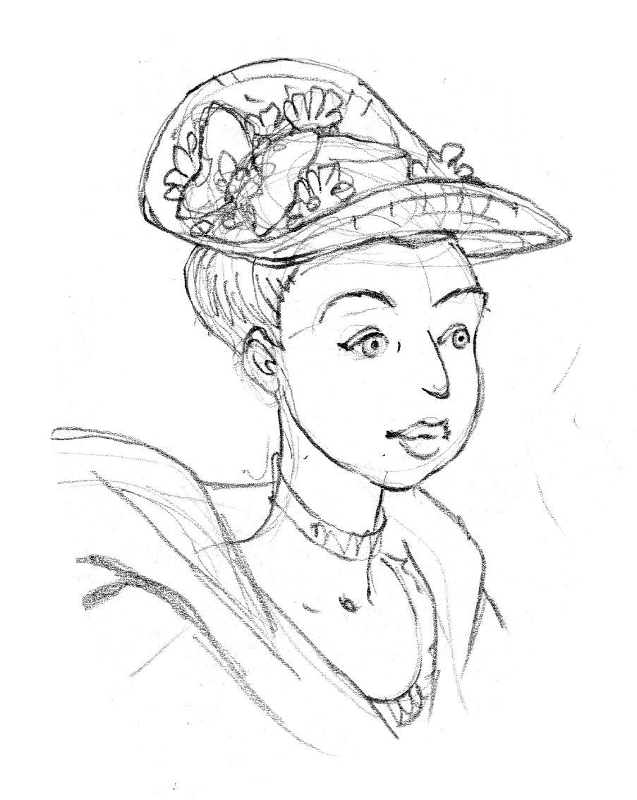 Mémoires de Marie-Antoinette, Antoinette au chapeau © Isa Python