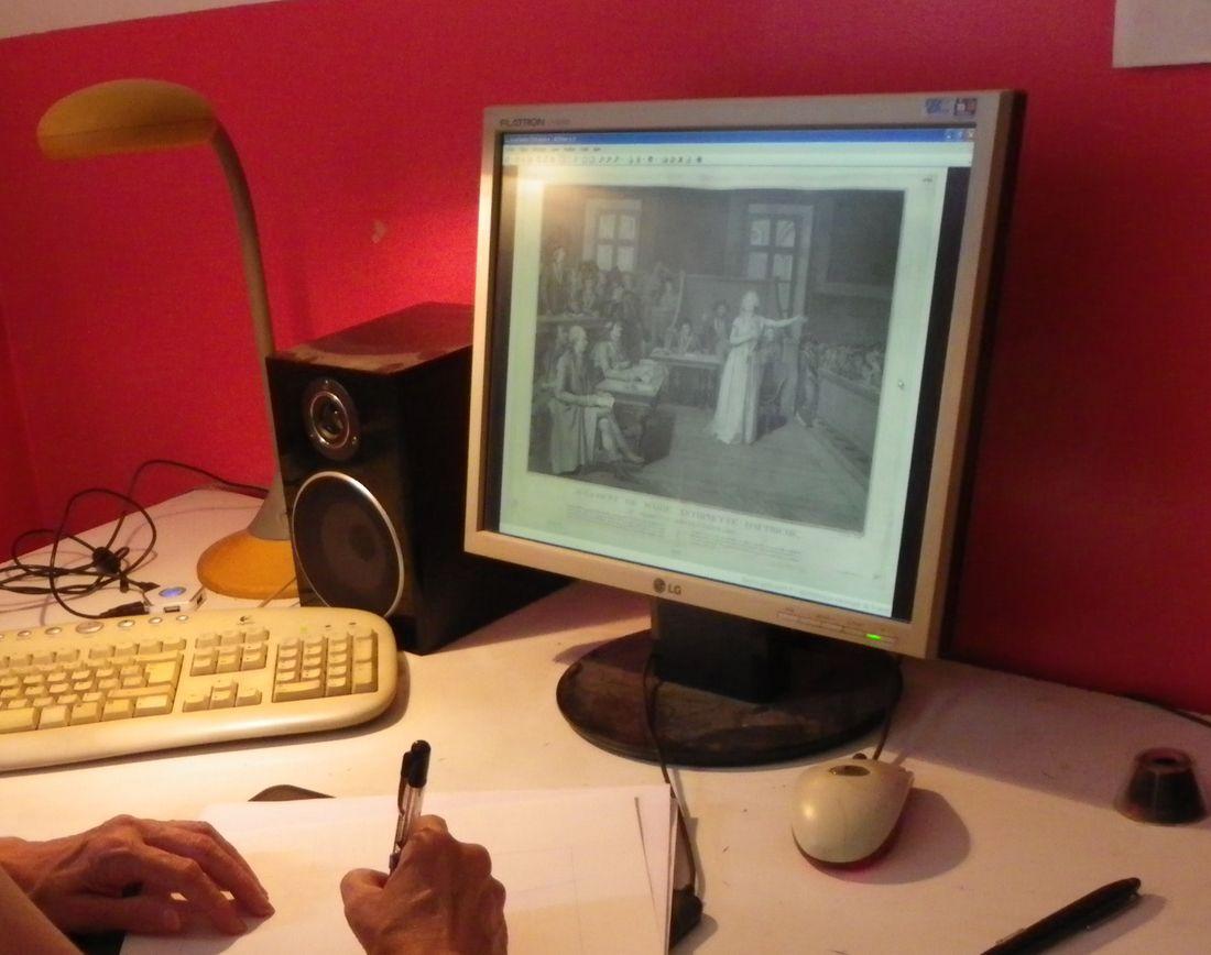 Mémoires de Marie-Antoinette, work in progress © Isa Python