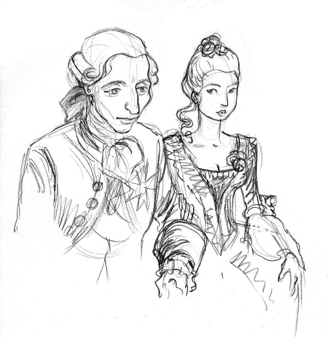 Mémoires de Marie-Antoinette, Louis et Antoinette © Isa Python