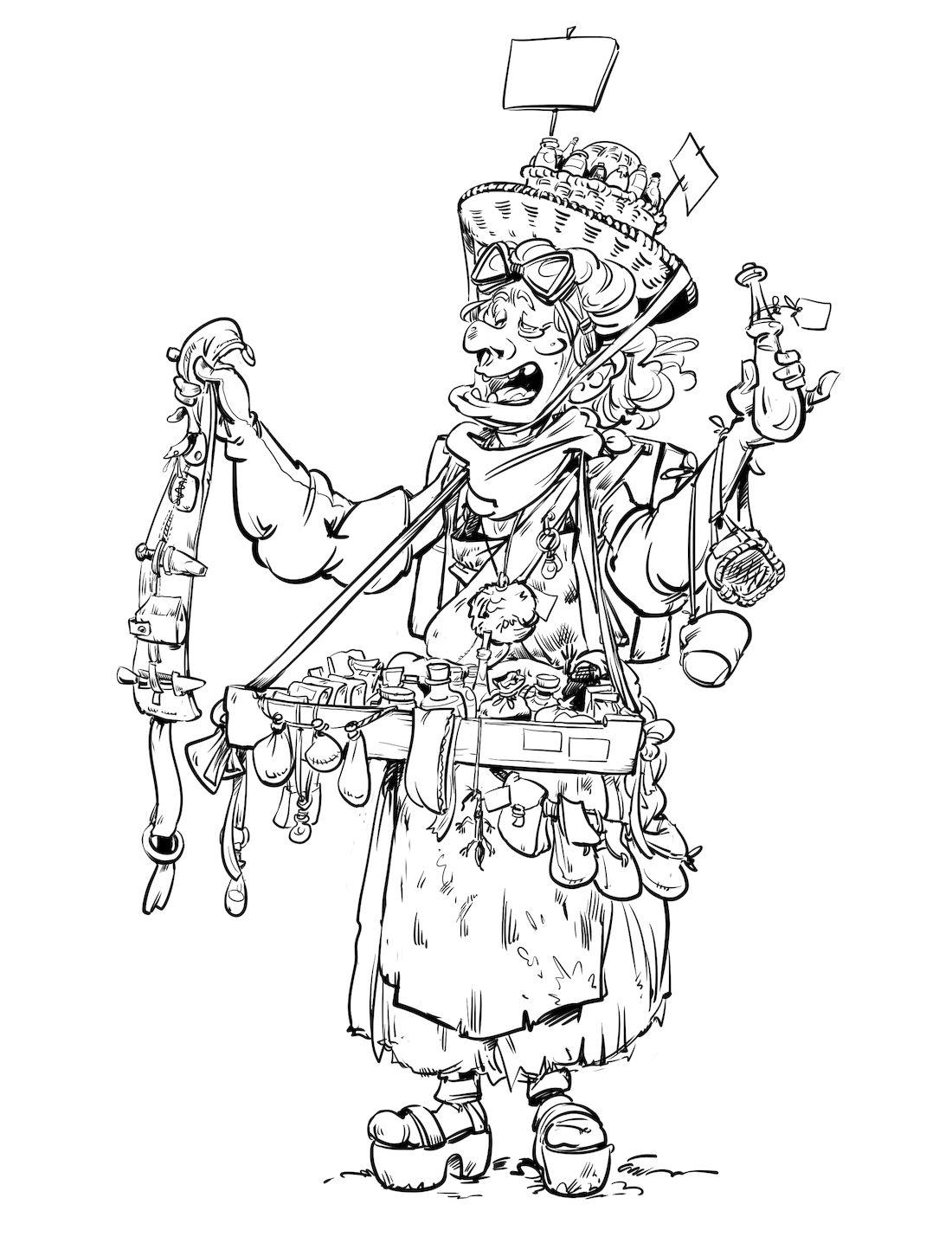 Dragon & Poisons, recherche de personnage : la colporteuse © Morse