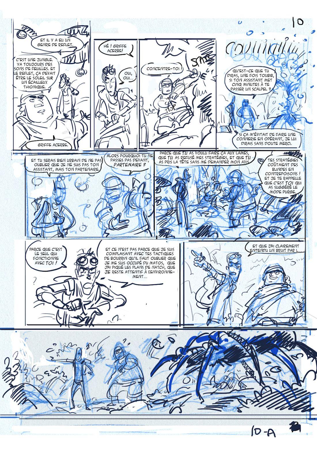 Dragon & Poisons, storyboard de la planche 10, version A © Morse / Bauthian