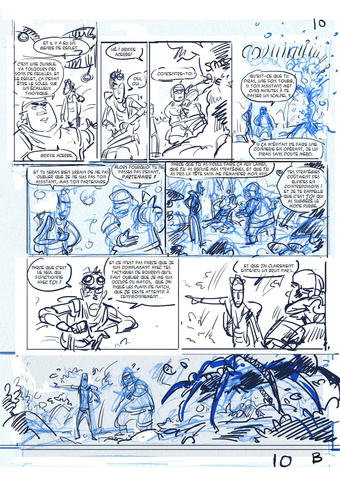 Dragon & Poisons, storyboard de la planche 10, version B © Morse / Bauthian