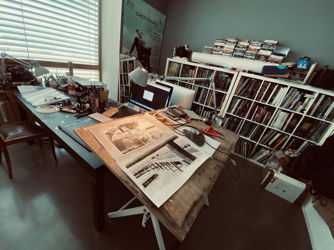 Elecboy, l'atelier de l'artiste