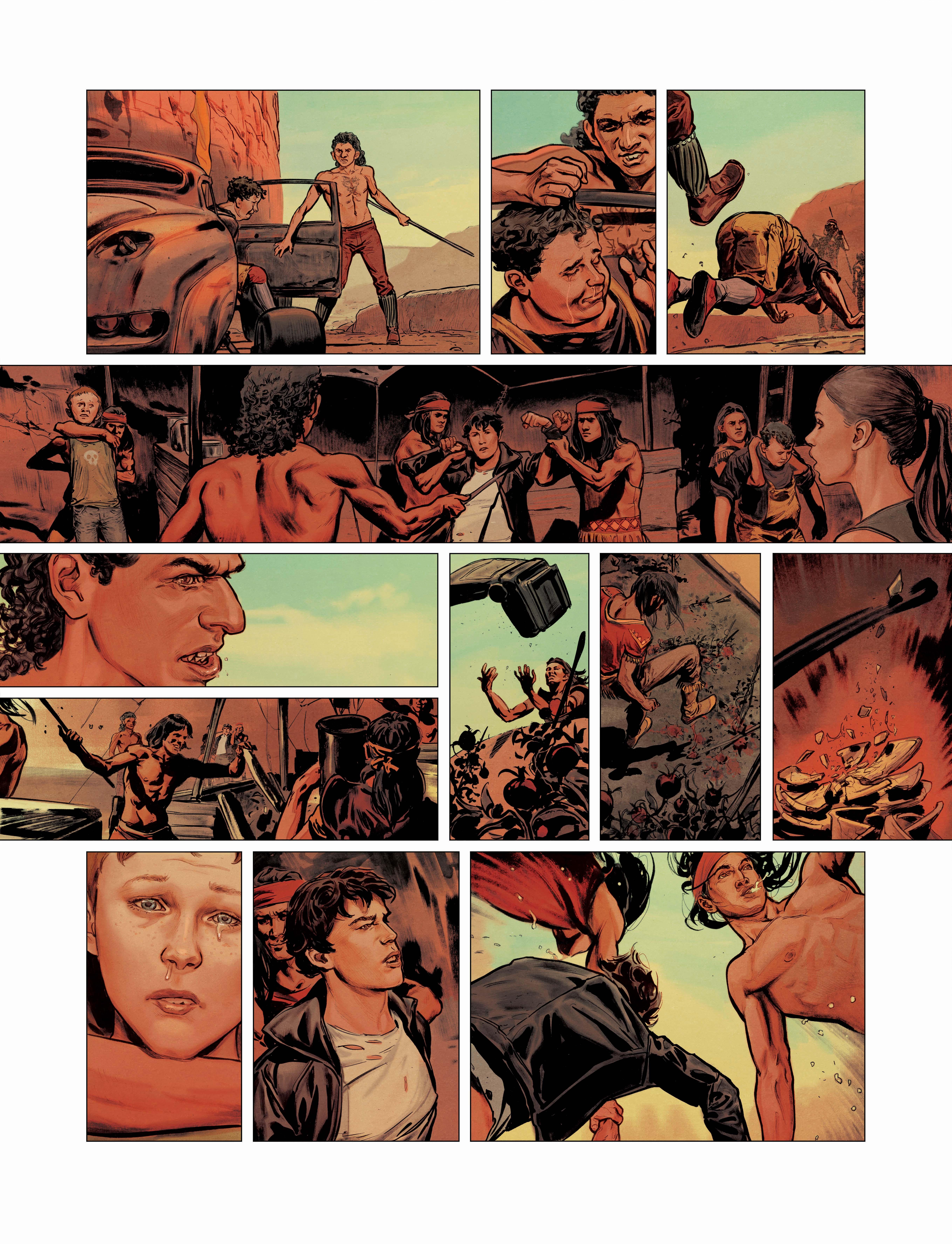 Elecboy, colorisation de la page 36 © Dargaud / Salaün
