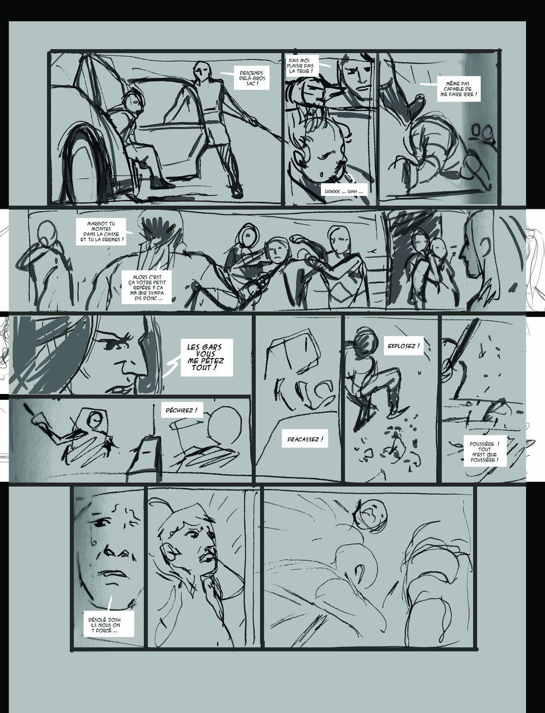 Elecboy, storyboard de la page 36 © Dargaud / Salaün