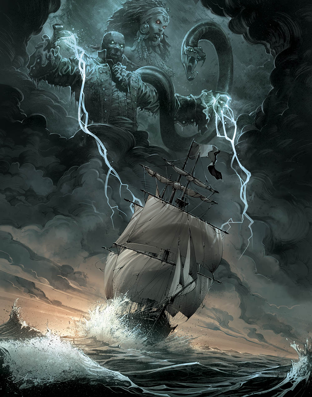 Capitaine Vaudou, couverture de la nouvelle édition © Anthony Jean