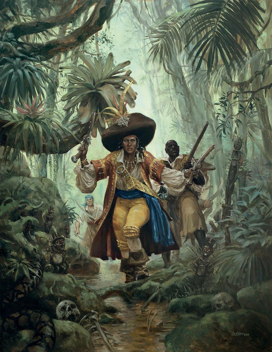 Capitaine Vaudou, couverture du livre du joueur © Ugo Pinson