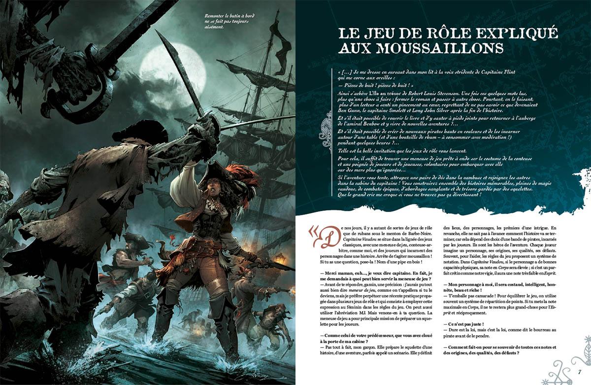 Capitaine Vaudou, extrait de la maquette © Anthony Jean