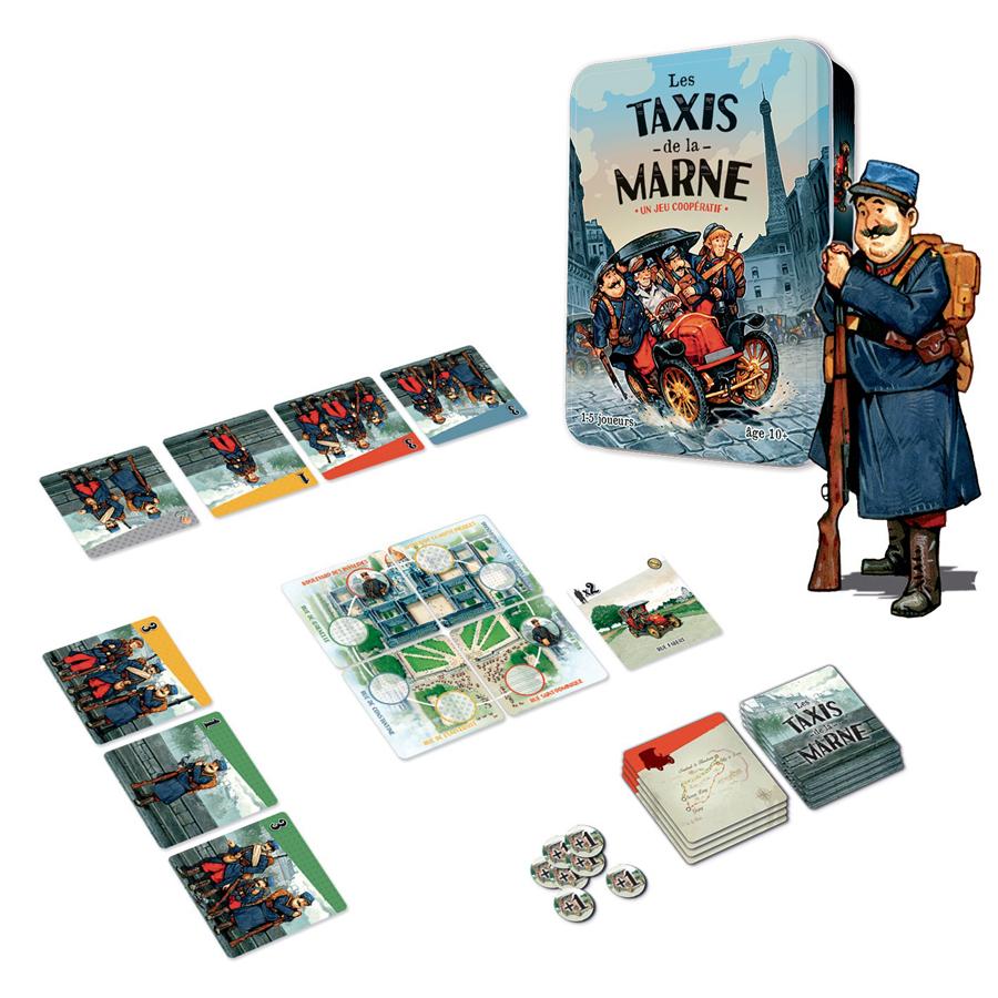 Les Taxis de la Marne, aperçu du matériel © Coktail Games / Dutrait / Caplanne