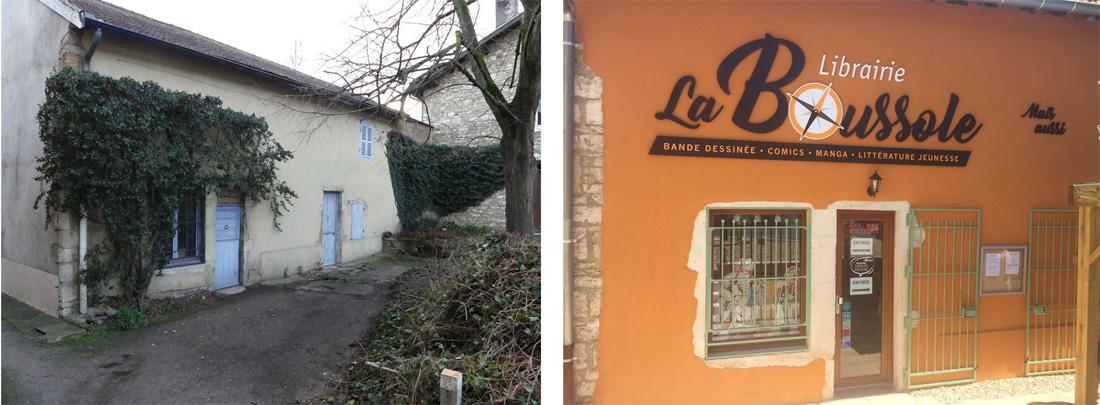 La Boussole, avant et après les travaux © La Boussole