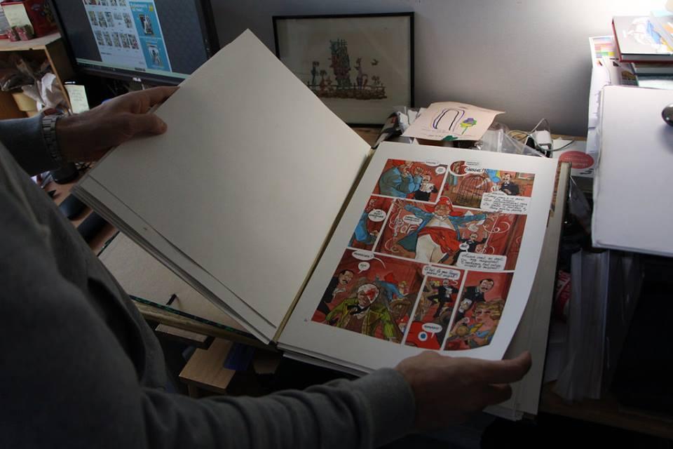 les planches originales d'Edmond © Léonard Chemineau