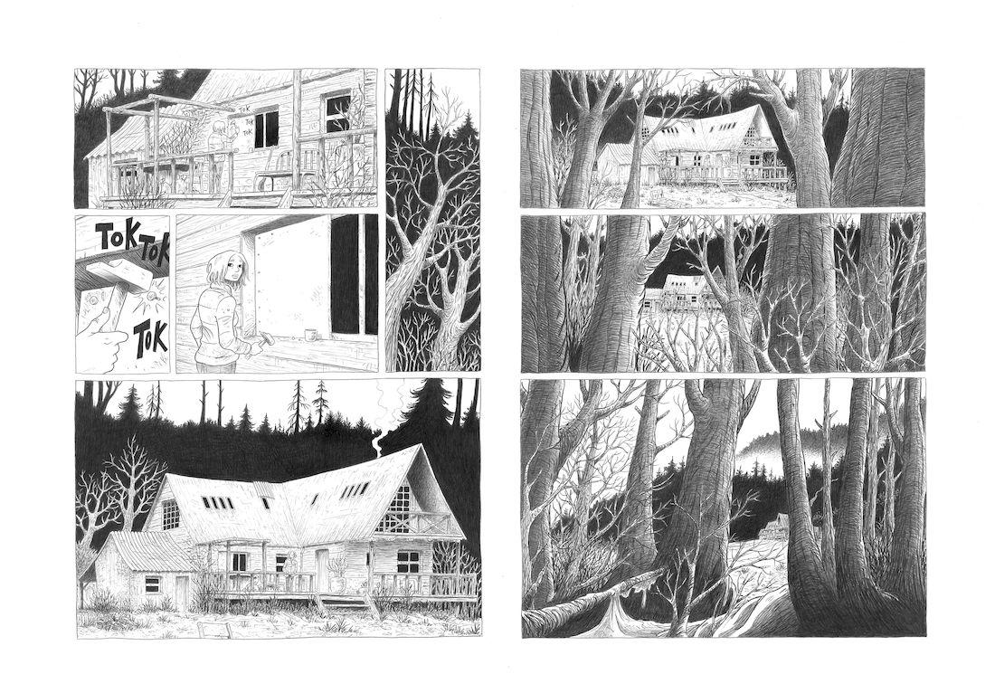 dans la Forêt, planche 1 finalisée © Lomig