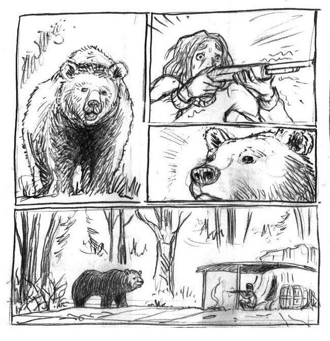 dans la Forêt, storyboard © Lomig
