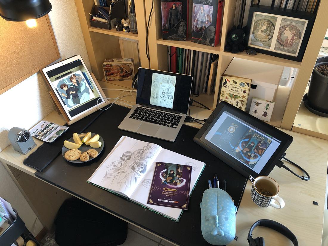 dans l'atelier de l'artiste © Mara