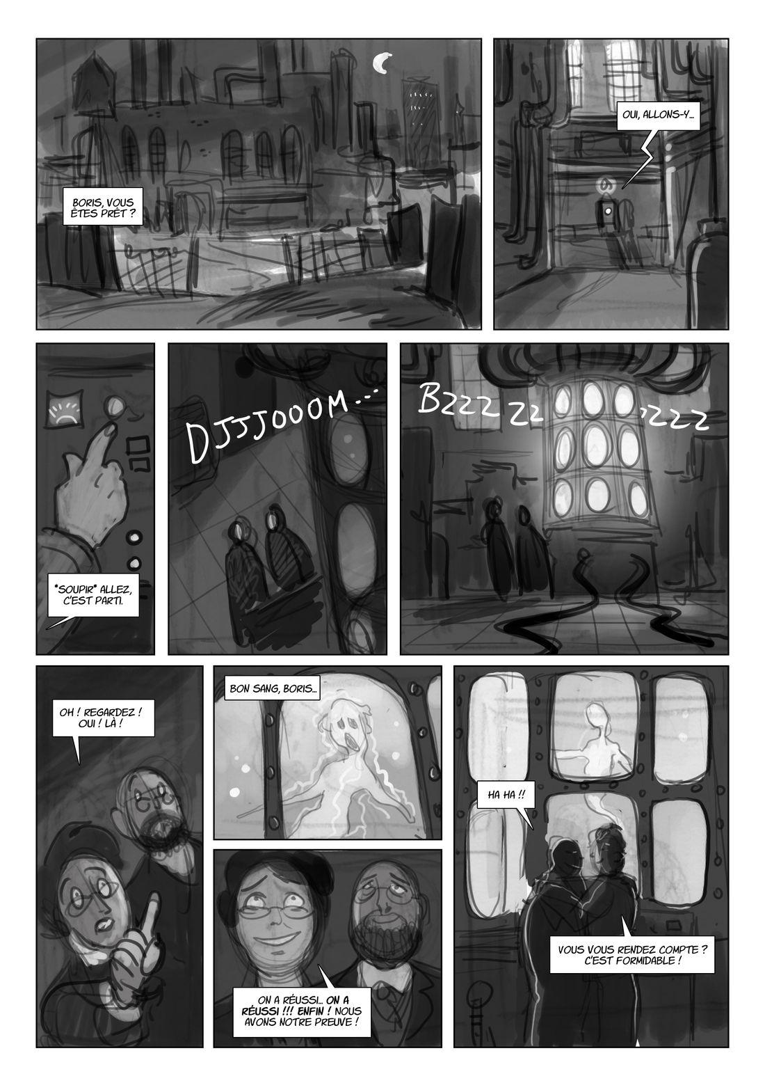 Spirite, storyboard de la planche 12 © Mara