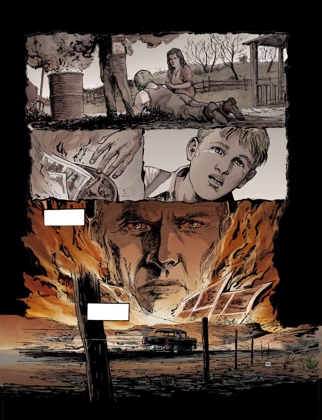 L'Art du Crime, colorisation de la planche 37 du tome 1 © Glénat / Berlion / Omeyer / Favrelle
