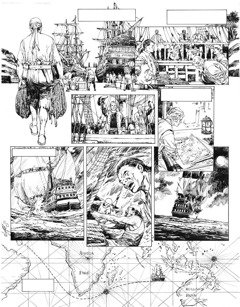 l'Art du Crime, version noir & blanc de la page 13 du tome 3 © Glénat / Pedro Mauro / Omeyer / Berlion