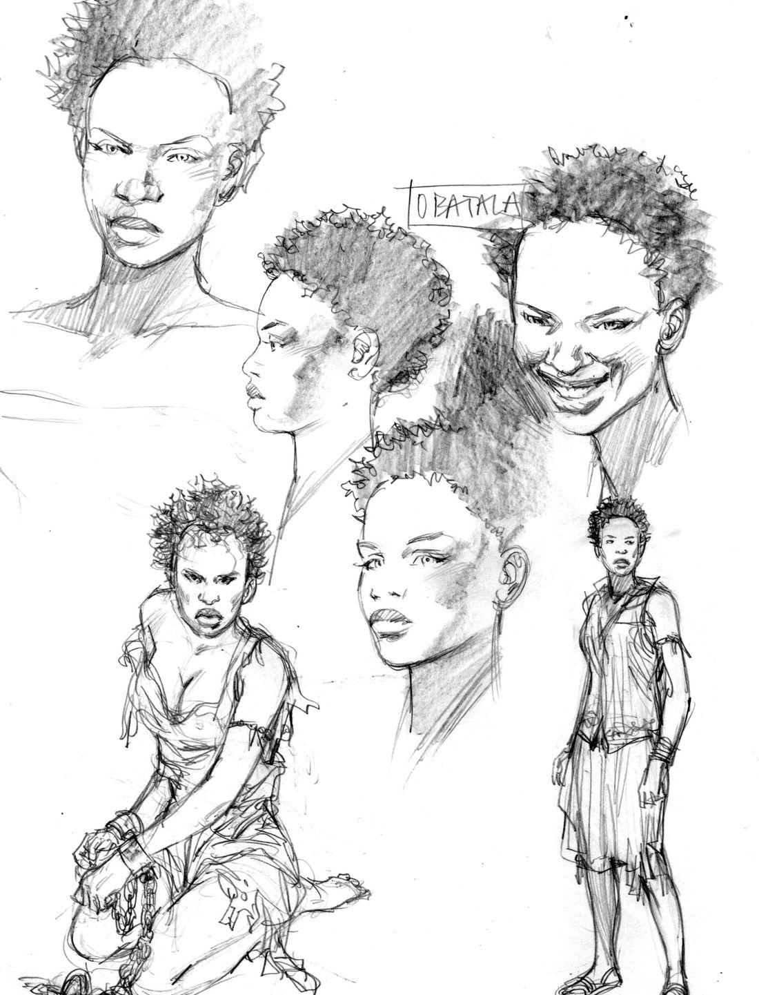 l'Art du Crime, tome 3, recherche de personnage, Obatala © Pedro Mauro