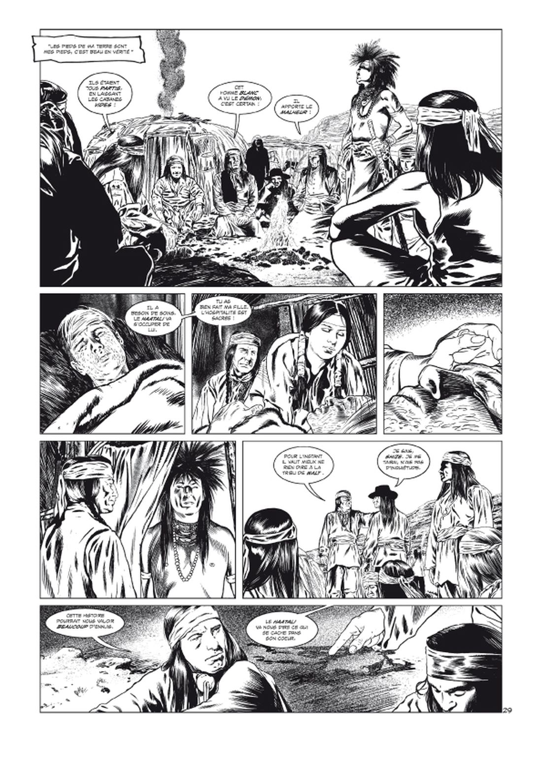 l'Art du Crime, Version noir & blanc de la planche 28 du tome 5 © Glénat / Karl T / Omeyer / Berlion