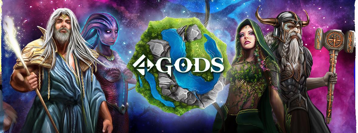 4 Gods, les 4 divinités © Ludically / Ismaël / Boelinger
