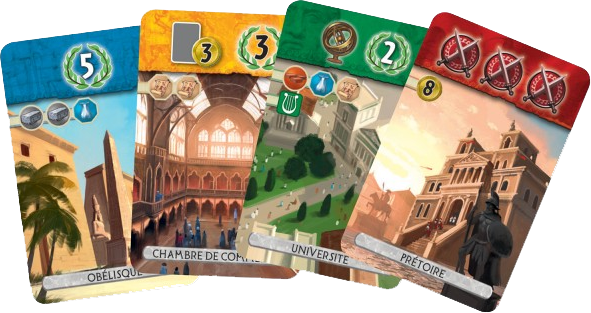 7 Wonders Duel, cartes Age © Repos Production / Coimbra
