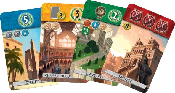 7 Wonders Duel, cartes Age © Repos Production / Coimbra