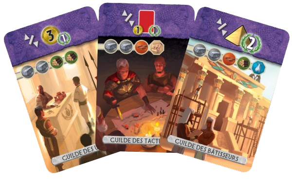 7 Wonders Duel, cartes Guilde © Repos Production / Coimbra