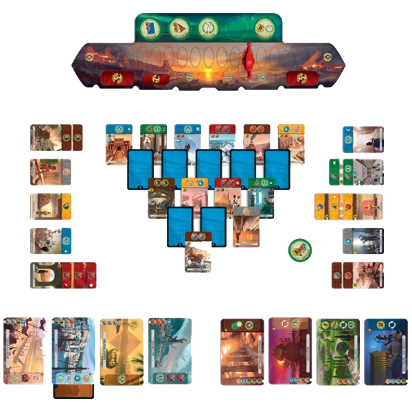 7 Wonders Duel, partie en cours © Repos Production / Coimbra