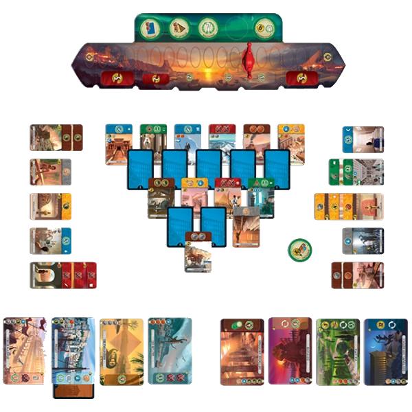 7 Wonders Duel, partie en cours © Repos Production / Coimbra