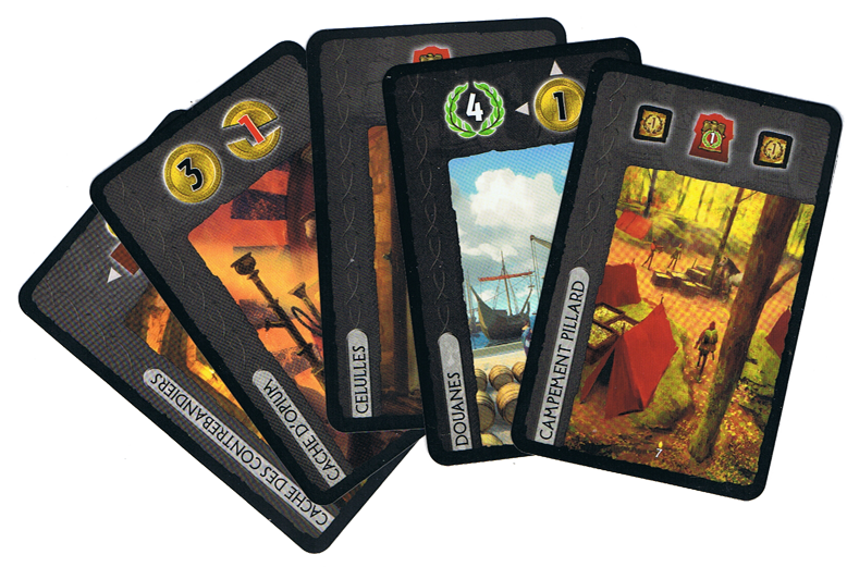 7 Wonders - Cities: Anniversary Pack, quelques cartes © Repos Prod