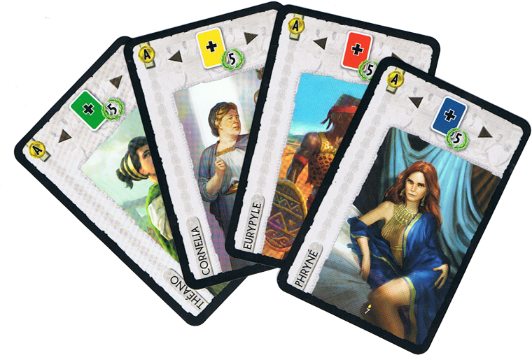 7 Wonders - Leaders : Anniversary Pack, quelques cartes © Repos Prod