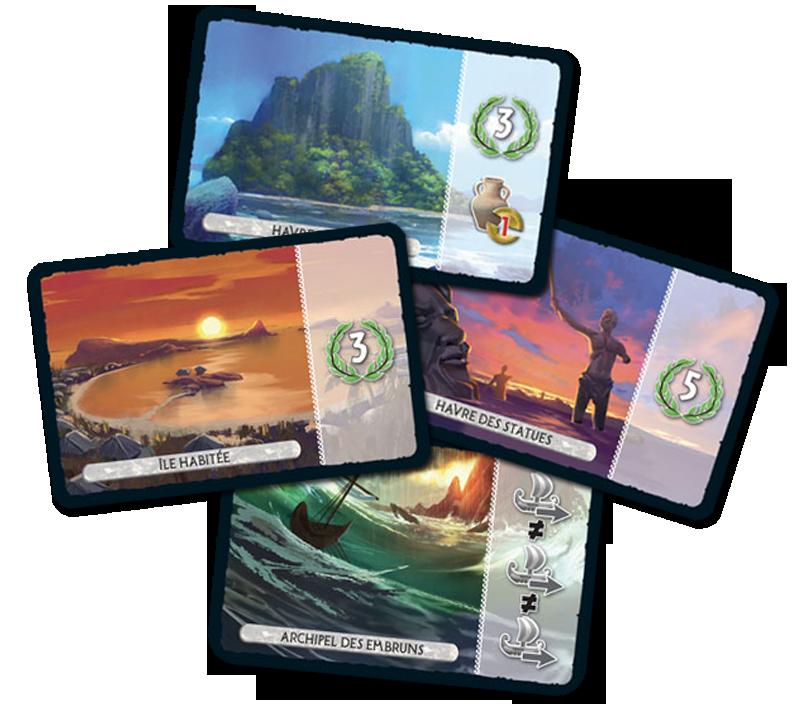 7 Wonders - Armada, cartes Île © Repos Prod