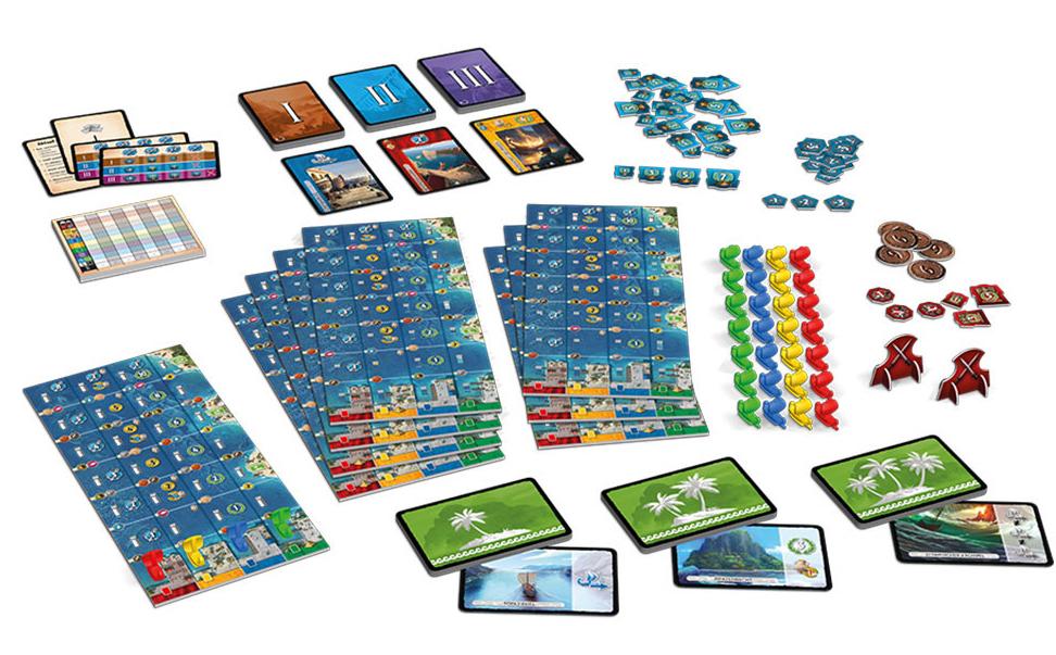 7 Wonders - Armada, aperçu du (somptueux!) matériel © Repos Prod
