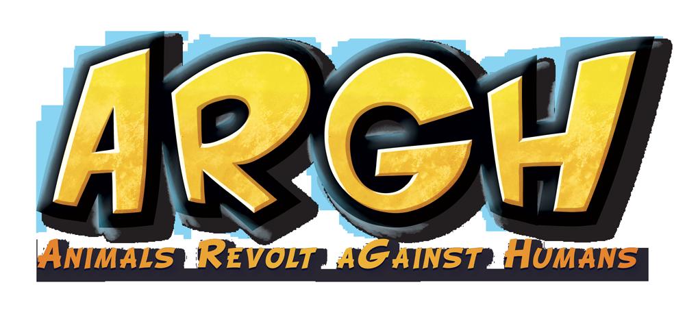 ARGH, le logo du officiel du Animals Revolt aGainst Humans © Blue Cocker / Heidsieck / Galonnier