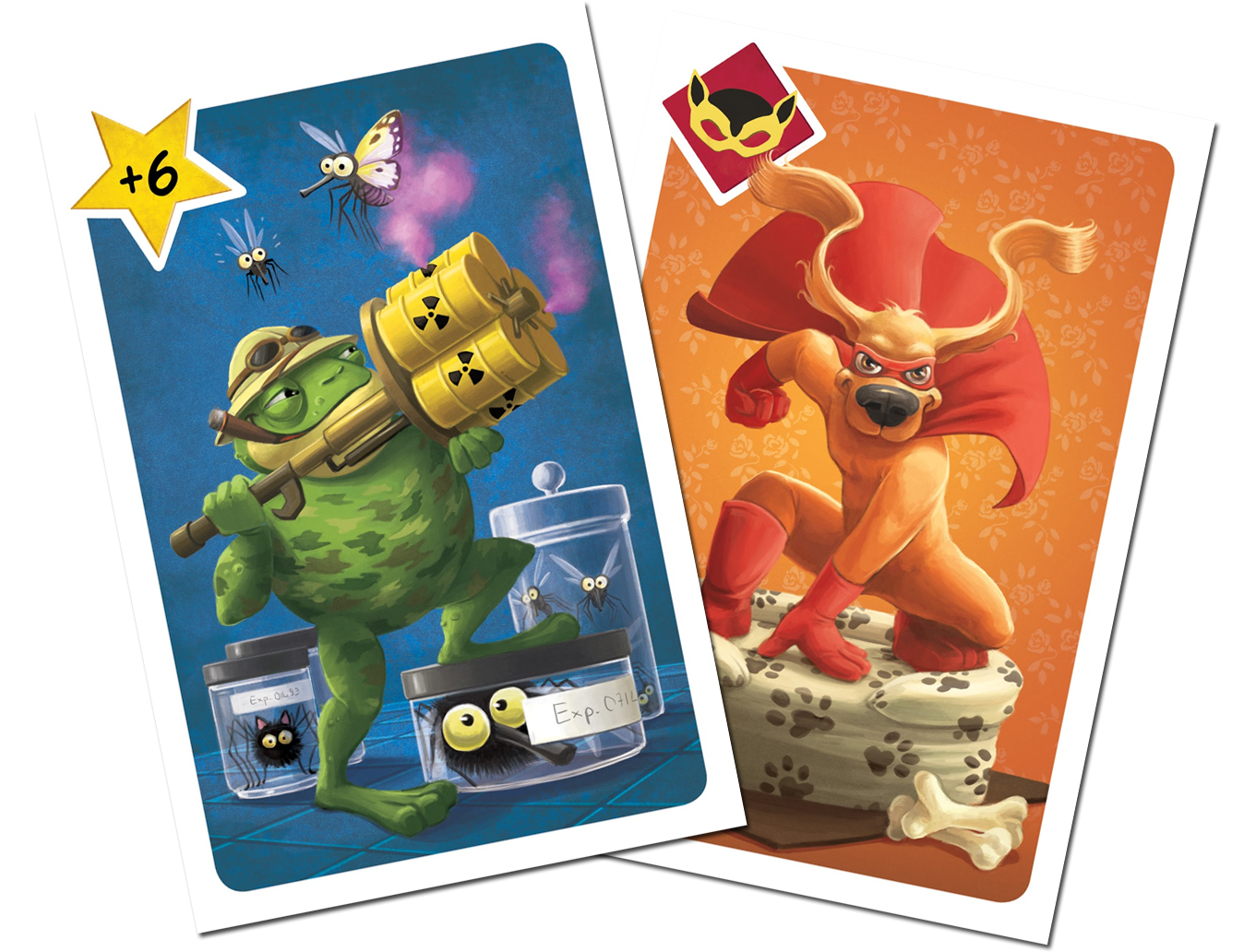 ARGH, deux des (superbes) cartes du jeu © Blue Cocker / Heidsieck / Galonnier