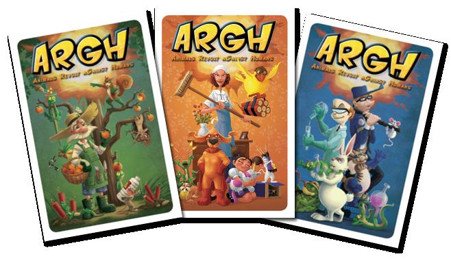 ARGH, l'envers des cartes © Blue Cocker / Heidsieck / Galonnier