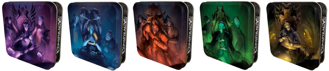 Abyss - Conspiracy, 5 (magnifiques) boîte pour un grand petit jeu © Bombyx / Quidault / Chevalier / Cathala
