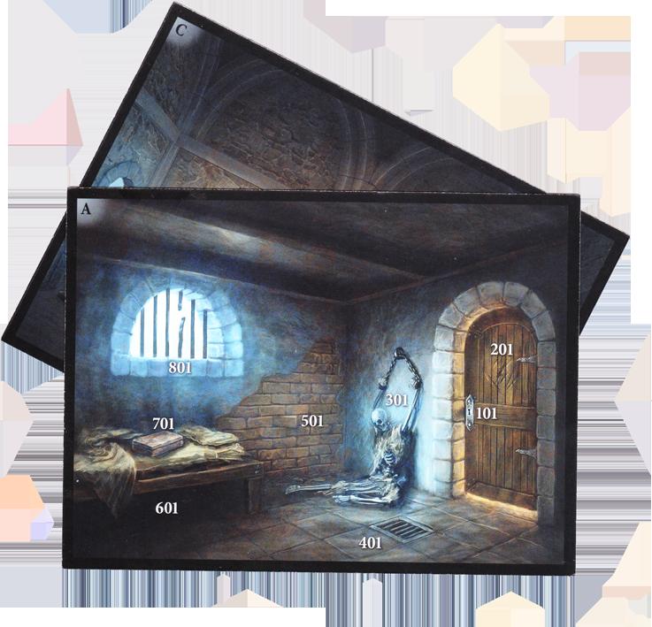 Adventure Games, le Donjon, cartes lieux © Iello