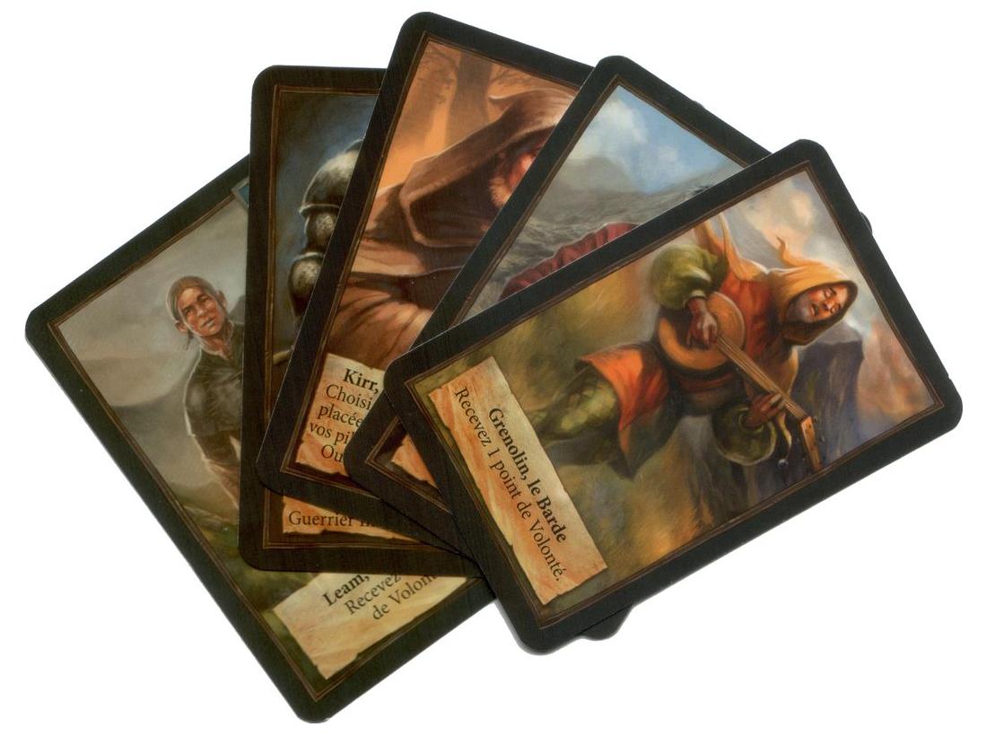 Andor : Chada & Thorn, cartes alliés (et un intrus) © Iello / Menzel / Hecht
