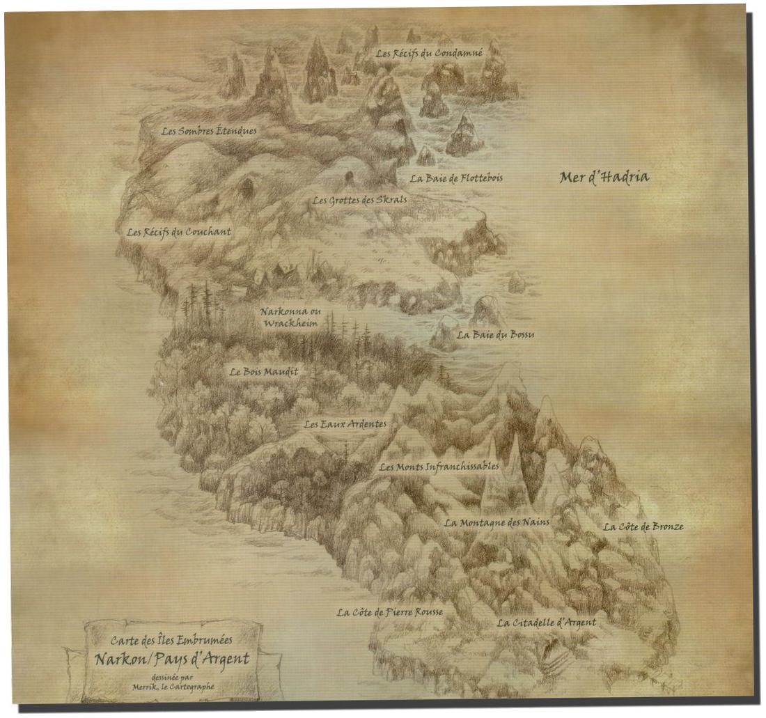 Andor : Chada & Thorn, cartes des Îles Embrumées © Iello / Menzel / Hecht