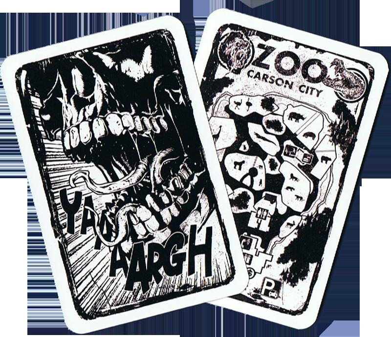 Apocalypse au zoo de Carson City, le dos des cartes... © Jeux Opla / Griffon