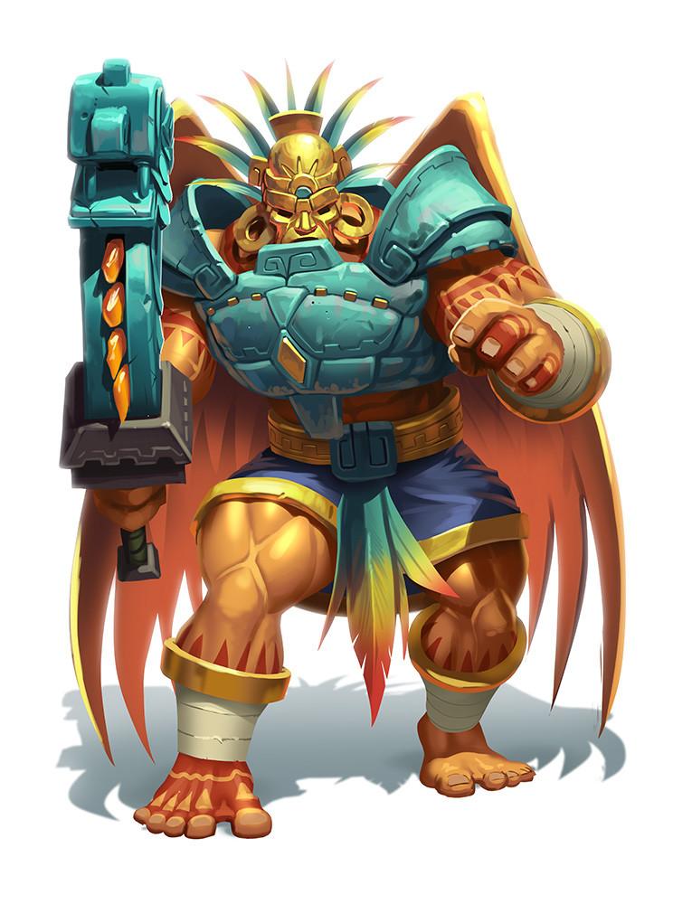 Arena : For the Gods!, un valeureux guerrier prêt à combattre pour les dieux! © Iello / Mafayon / Rambourg