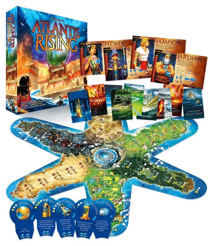Atlantis Rising, contenu de la boîte © Lucky Duck Games / Dutrait / Ciscell