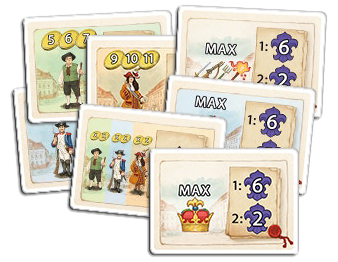 Bastille, cartes Mission © Queen Games / Cochard  / Erdt / Behre