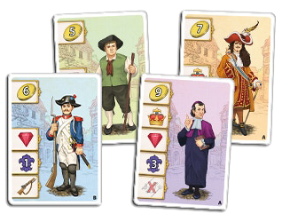 Bastille, cartes Personnage © Queen Games / Cochard  / Erdt / Behre